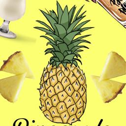 piña pineapple🍍 wallpaper freetoedit pineapple