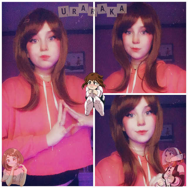 Heres Uraraka!!💞  Ive never really liked how my uraraka looks but ill keep trying to get better^^  Also my dad and brother have covid and were assuming i have it as well so yeah that kinda sucks  I hope your all staying safe!  Wear a mask Wuv u  Tiktok: weeblet101   #uraraka #ochakouraraka #urarakacosplay #urarakaochakocosplay #ochako #ochakocosplay #ochakouraraka #ochakourarakacosplay #uravity #uravitycosplay #bnha #mha #bnhacosplay #mhacosplay #cosplay #bokunoheroacademia #myheroacademia #bokunoheroacademiacosplay #myheroacademiacosplay #cosplayer #anime #animecosplay #weeblet101 #pink #idk