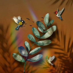 fantasy imagination surreal plant bird editedbe shadow shadoweffect prism prismeffect creative creativity diversity summer freetoedit