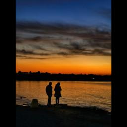 silhouette sunset sea sillhoute silloute sillhouette sunsetsilhouette