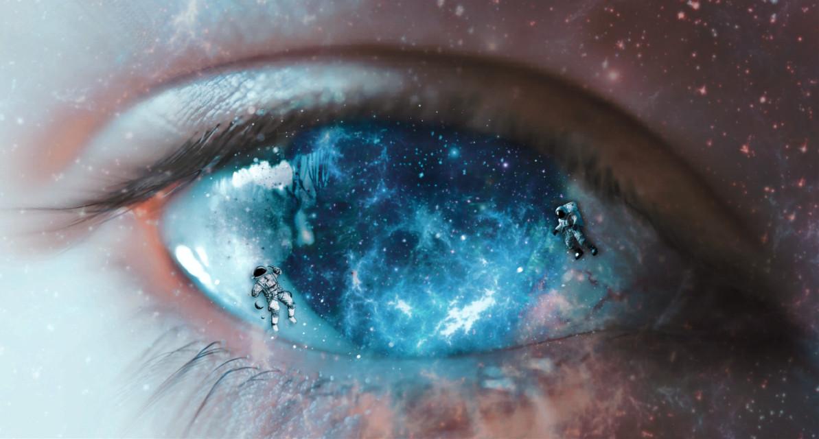 #picsart #picsartedit #galaxy #human #eye #astranauts #universe #edit #replay #stars