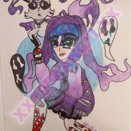 pokemon eeveelution ghostpokemon ghosteevee pokemondrawing purpleeasthetic purpledrawing purplepokemon ghosts freetoedit