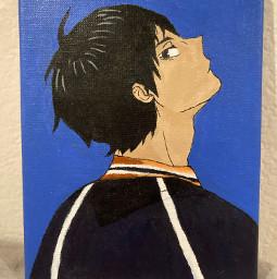 kageyama kageyamatobio haikyuu haikyuuedits anime paintings blue karasuno