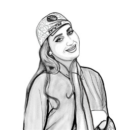 outline outlineart illustration portrait coloryourway colorme sketch freetoedit