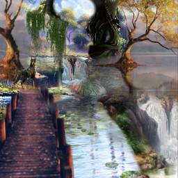 doctorswithborders freetoedit picsart madewithpicsart interesting art nature swamp river water mellogypsy