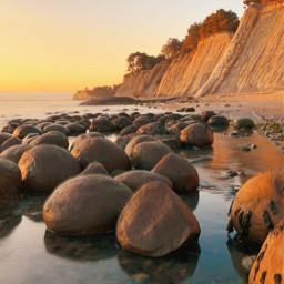 freetoedit california beach sunset nature