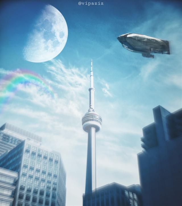 - - - - - - - - - - - - - - - #sky #building #moon #Rainbow #Airship #blue #bluesky #blueskywithclouds #skyline #skyblue #skyphotography #rainbowbright #moonlight #moonblue #blueaesthetic #bluebackground #nature #fly #flying