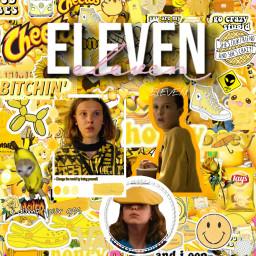 eleven strangerthings edit yellow freetoedit