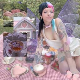 fairycore cute angelic fairy pastel purple pink aesthetic angelcore picnic cottagecore melanie martinez melaniemartinez freetoedit
