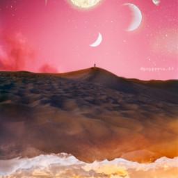 picsart myedit myremix surreal freetoedit sky photomanipulation photoart fxeffects earthplanet universe mountains unsplash upsidedown