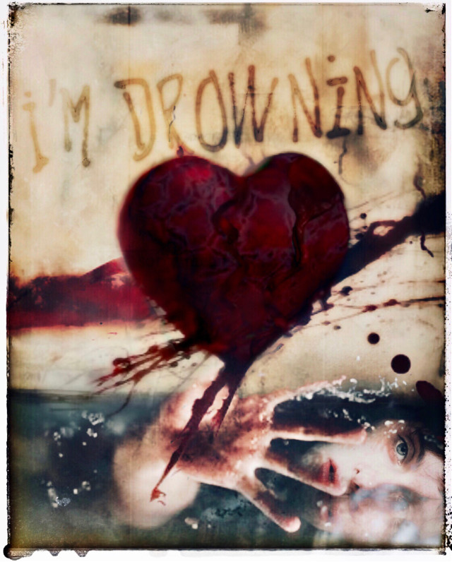 Drowning from a broken heart 💔  #art #love #emotions #heart #brokenheart #bleedingheart #girl #pain #expression #drowning #overlays #fx #edit #myedit #frame #colorful #photomanipulation #makeawesome #heypicsart #becreative #inspiration #papicks #picsart #justart #freetoedit @picsart