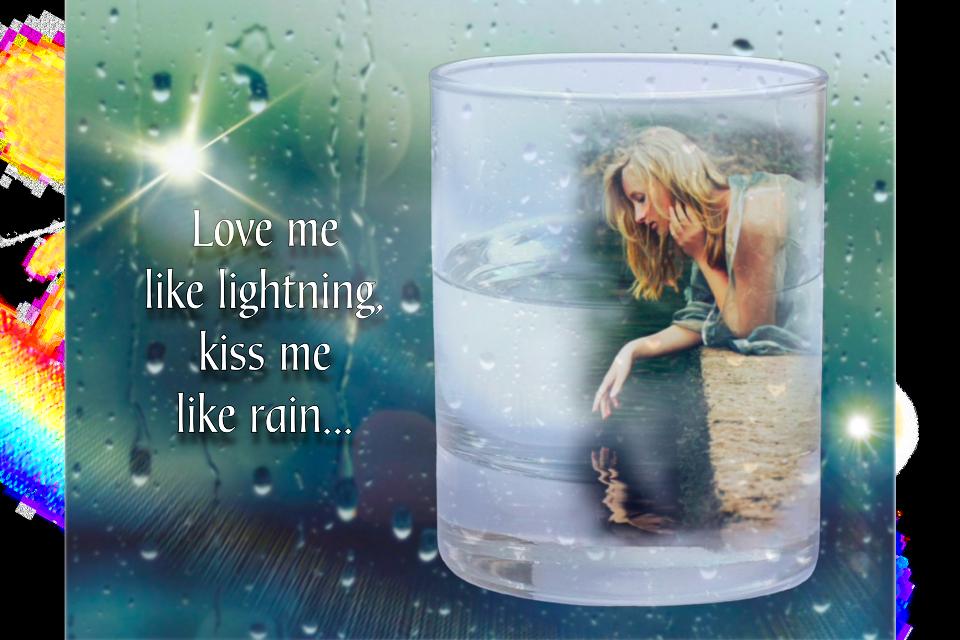 #glassofwater #imageremixchallenge #freetoedit  #rain #fusion