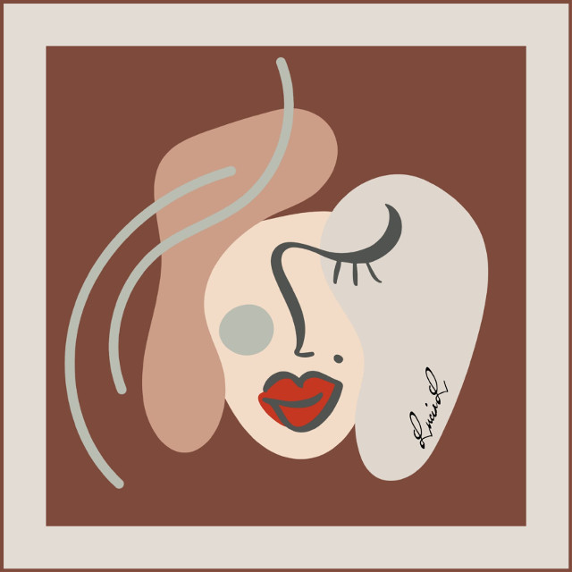 #face #abstractface #she #woman #womanface #minimal