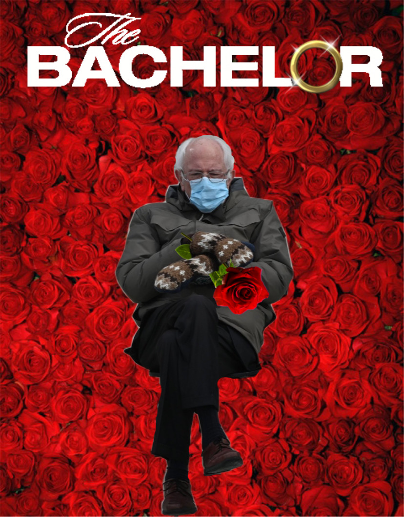 In the most exciting season yet. #bernie #thebachelor