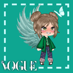 green butterfly animegirl picsart clothes anime vogue voguemagazine freetoedit