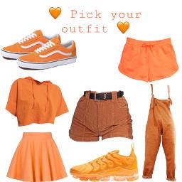 pickuroutfit orange whatshouldidonext nextcolour freetoedit