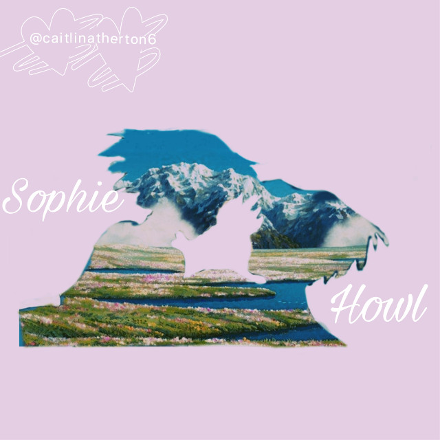 Sophie and Howl double exposure edit #howlsmovingcastle #sophie #howl #studioghibli #scenery #doubleexposure