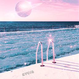myedit myart spaceart pool glitter freetoedit
