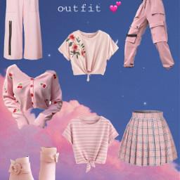 pink outfit cute pickuroutfit uropinion freetoedit