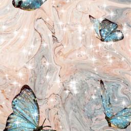 butterfly glitter marmor freetoedit
