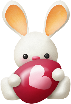 rabbit bunny easter cute love heart egg freetoedit