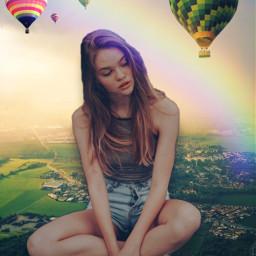 giant airballon freetoedit ecgiantpeople giantpeople