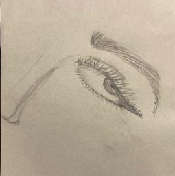 eye sketch whydoihavetoaddahashtag idontcare lookup aesthetic falloutboy kings edsheeran justinbieber ew music art nose eyeliner wing byme bytanakay artbytana tanakay tanakayyt bytanakayyt