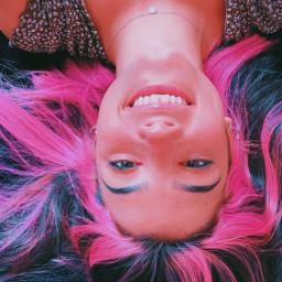 chariledamelio smileyface pinkhair freetoedit