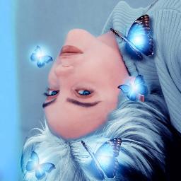 billieeilish butterflies blueaesthetic freetoedit srcbluebutterflies bluebutterflies