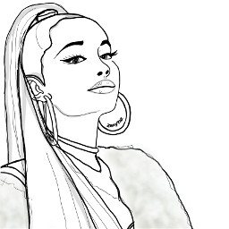 arianagrande linedrawing colorpage ariana ponytail outline outlineart sketch people trend trendygirl illustration outlinegirl lineart portrait portraitoutline celebrity colorme freetoedit