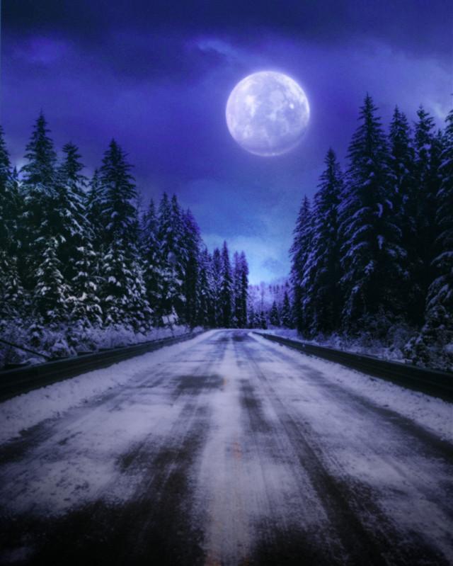 #myedit #madewithpicsart  #sky #moon #snow #surreal #fantasy  @picsart @freetoedit
