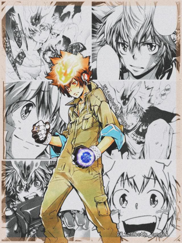 #katekyohitmanreborn #khr #katekyo #hitman #reborn #sawadatsunayoshi #tsunayoshisawada #tsunayoshi #sawada #tsuna #27 #vongola #collage #manga #blackandwhite #brown #orange #fight #cute #happy #fire #aesthetic #anime