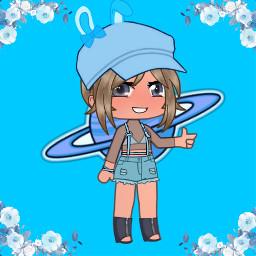 animegirl picsart clothes anime blue rabbit freetoedit