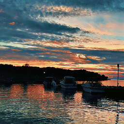 sunset dock boat boats clouds saturated saturation sun cottage freetoedit pctheskyabove theskyabove