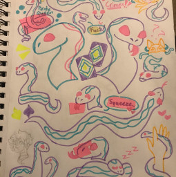 origionalart traditionalart doodlepage sketchpage highlighters markers snake faust thearcana arcana
