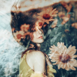 freetoedit myedit girl flowers fxeffects zoomeffect picsart madewithpicsart