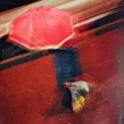 heypicsart umbrella rainyday street art iphone mobilephotography red people texture blur rain winter color