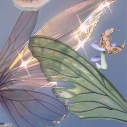 fairy fairycore blue green purple sticker freetoedit