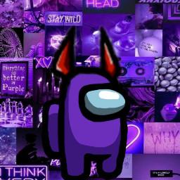 amongus purple freetoedit
