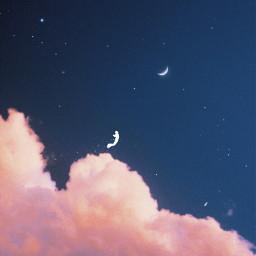 cloudsaesthetic purpleaesthetic moon magic freetoedit