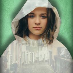 town city brownhair blueeyedgirl wall sweatshirt jacket transparent shadow freetoedit