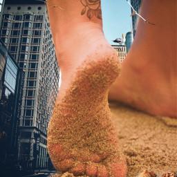 bigfeet sand shell freetoedit ecgiantpeople giantpeople