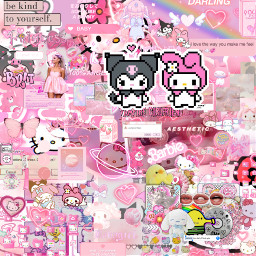 arianagrande blue pink hellokitty sanrio barbie complex edit backround freetoedit