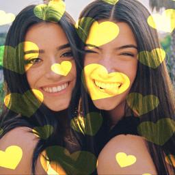 sisters freetoedit like challenge remixit srcyellowhearts yellowhearts