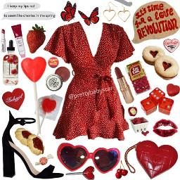 dress red lanadelrey aesthetic niche cute pretty spring summer lana del rey aesthetics freetoedit