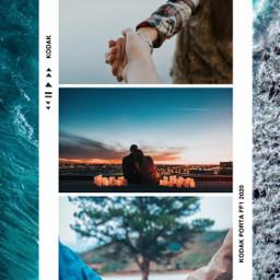 polaroid love ocean freetoedit