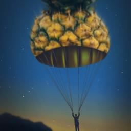 parachute pineapple surreal surrealism dusksky freetoedit