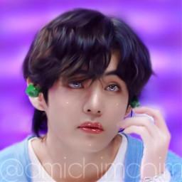 v bts taehyung btsv btstaehyung tata tae cute purple army ibispaintx picsart