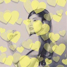 yellow arianagrande heart freetoedit srcyellowhearts