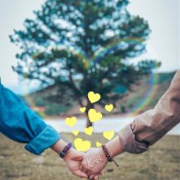 love heart hands tree yellow freetoedit srcyellowhearts yellowhearts